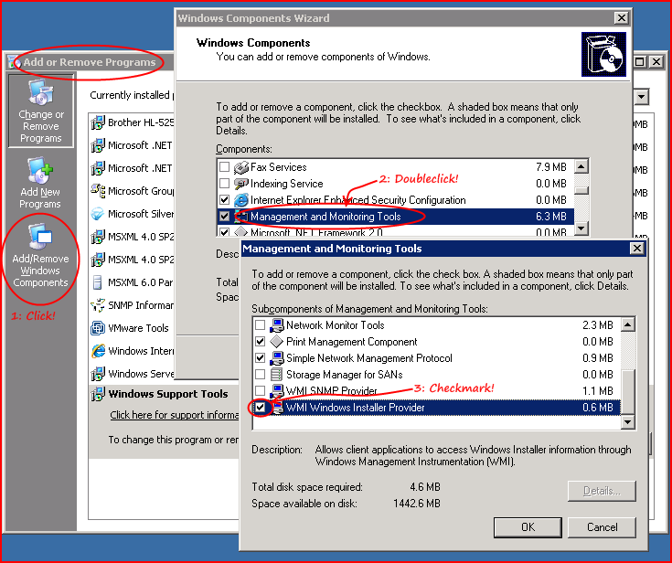 Installing the WMI Windows Installer Provider